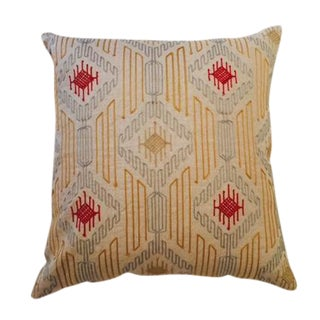 Linen Embroidered Pillow