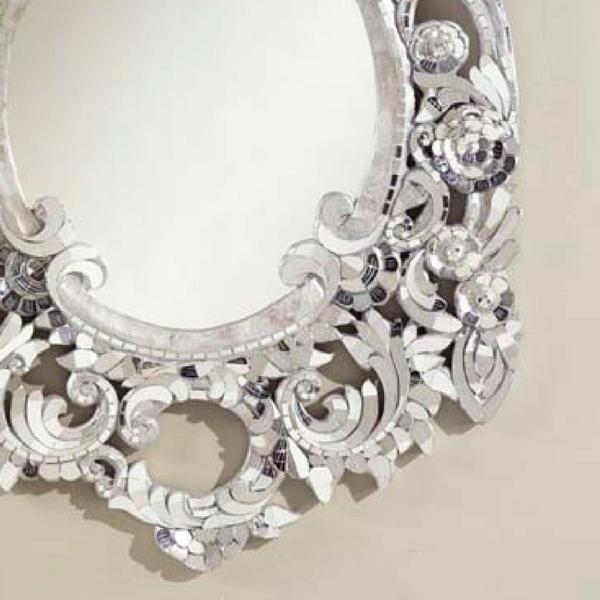 Silver Handcut Glass Mirror - Image 4 of 4