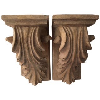 Pair Terra Cotta Brackets or Bookends