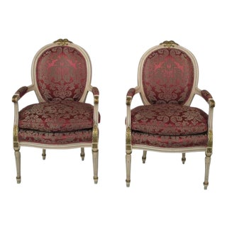 20th Century Louis XVI Fauteuils - A Pair
