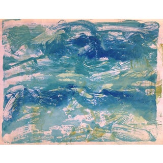 """Blue Tide"" Abstract Handmade Print, 2015"