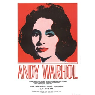 "Andy Warhol ""Liz Taylor"" 1989 Poster"