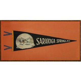 """""""Saratoga Springs, Ny. Pennant"""""""
