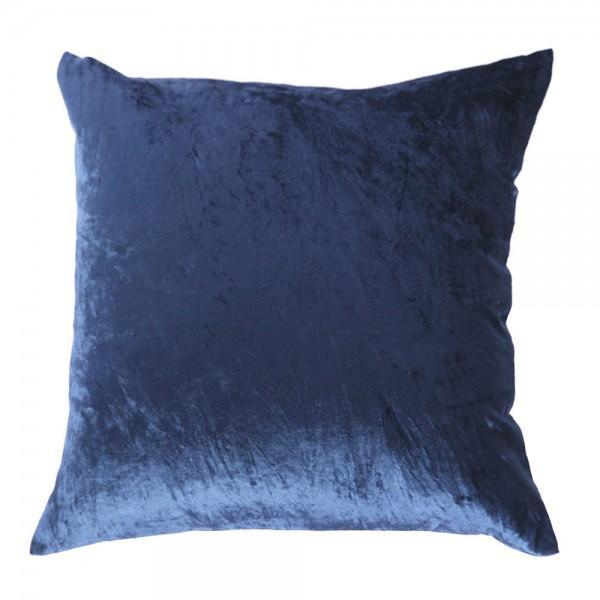 Image of Deep Indigo Velvet Pillow