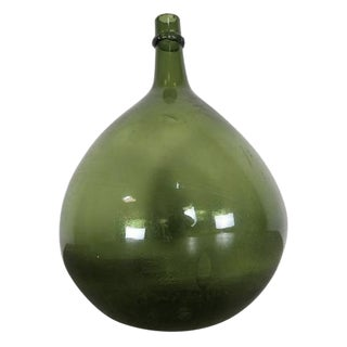 French Green Glass Bottle