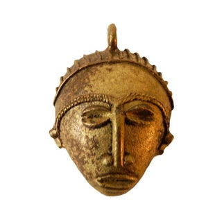 African Baule Gold Weight Passport Mask