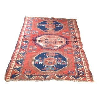 Antique Persian Red & Blue Rug