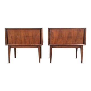 Thomasville Mid-Century Danish Modern Nightstands - a Pair
