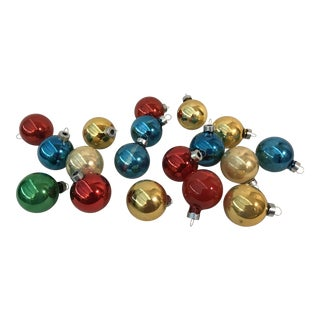 Vintage Holiday Glass Ornaments - Set of 18