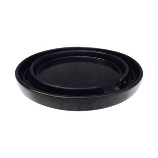 Gainey Ceramics Planter Pot Draining Platter Saucer Black Gainey