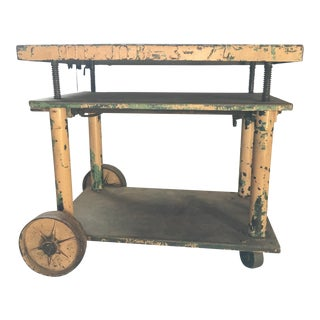 1920's Industrial Crank Table