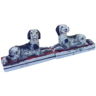 Vintage Spaniel Dogs - A Pair