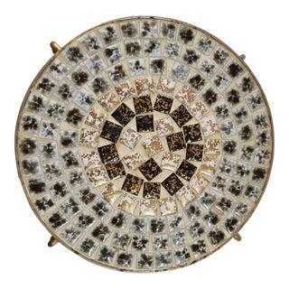 Mid-Century Mosaic Footed Tile Trivet