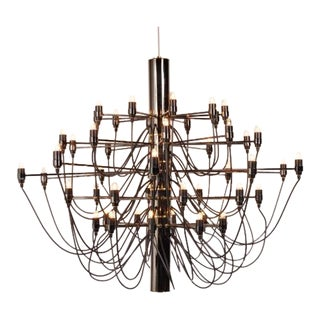 50 Bulb Chandelier by Gino Sarfatti for Flos, Italy, circa 1970
