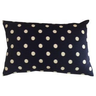 Blue & White Polka Dot Pillows - A Pair