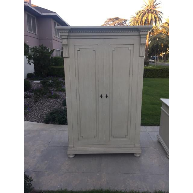 RH Baby & Child Antiqued Sage Jameson Armoire - Image 2 of 6