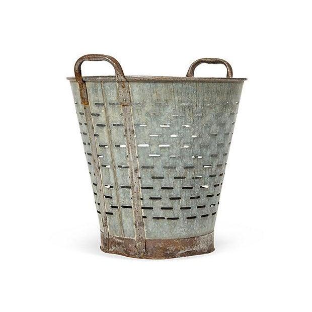 Vintage Mediterranean Rustic Olive Bucket - Image 2 of 3