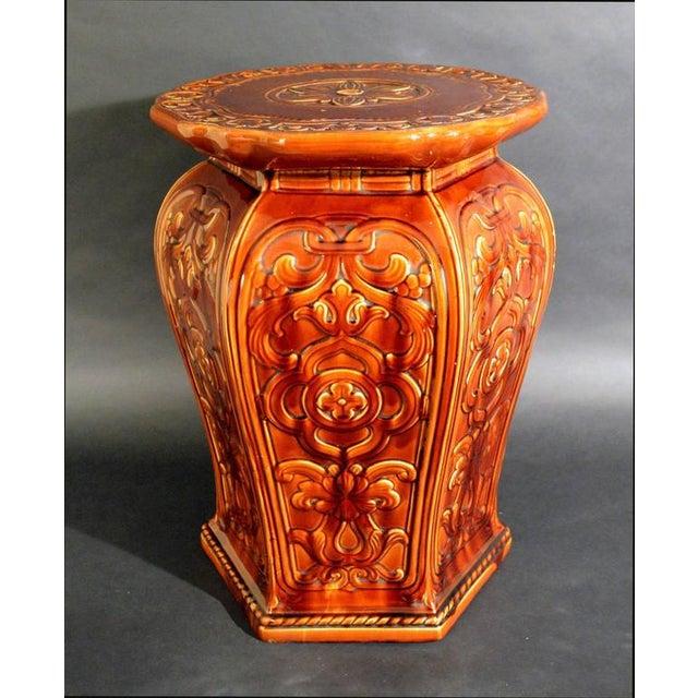 Augustus Welby Pugin Minton Arts & Crafts Majolica Garden Seat - Image 5 of 6