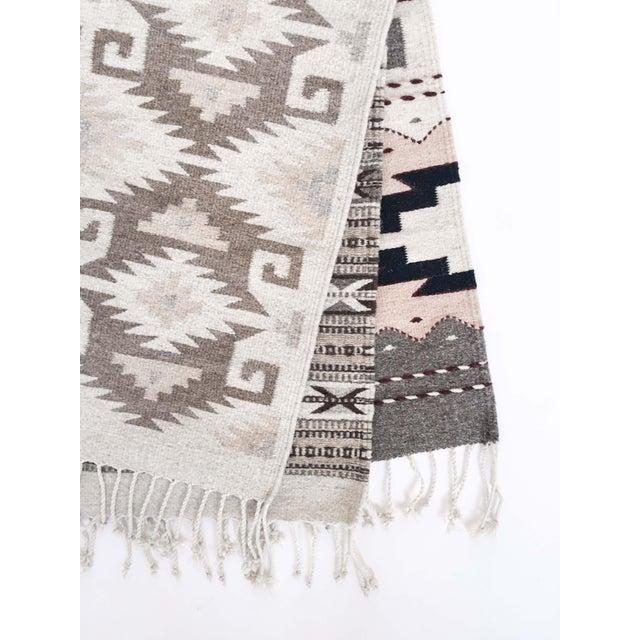 Neutral Handwoven Oaxaca Wool Rug - 2′ × 3′ - Image 2 of 3