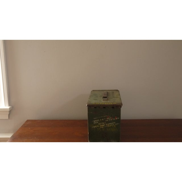 Green Stenciled Army Box - Image 3 of 4
