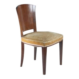 Dominique Set of Six Rosewood and Walnut Dining Chairs