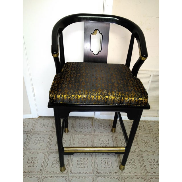 Century Chair Company Hickory Gold & Black Bar Counter Stools - A Pair - Image 3 of 11
