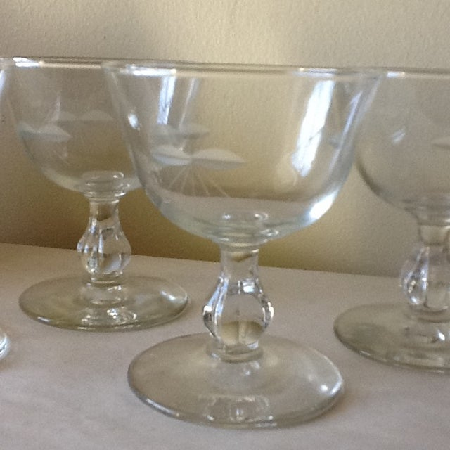 Vintage Cut Glass Wine Glasses - Set of 4 - Image 4 of 8