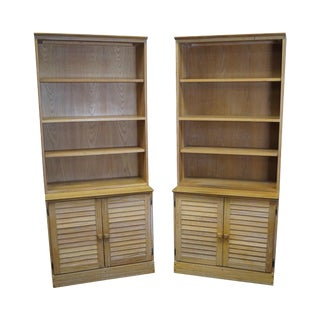 Brandt Ranch Oak Open Bookcases - a Pair