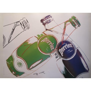 1983 Original Andy Warhol Poster, Perrier Advertisement