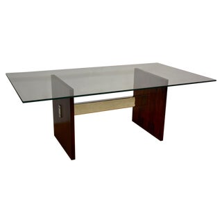 Kagan-Style Rosewood & Chrome Dining Table