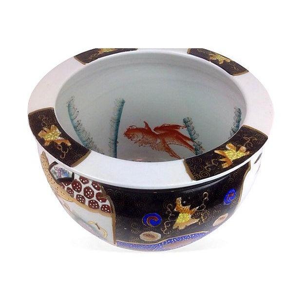 chinoiserie koi fish bowl planter chairish