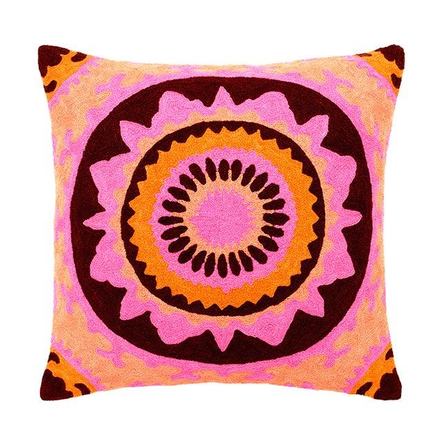 Pink & Orange Boho Chic Trance Pillow - Image 1 of 2
