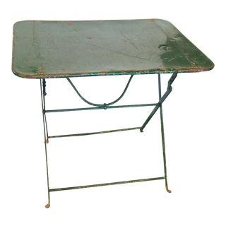 French Folding Garden Table