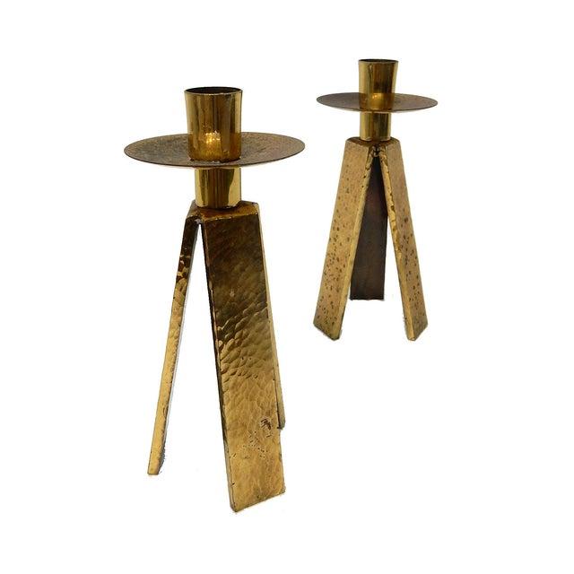 3 Legged One Light Candle Holder - Pair - Image 4 of 6