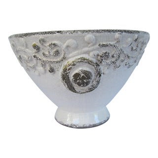 Distressed Antique White Bowl