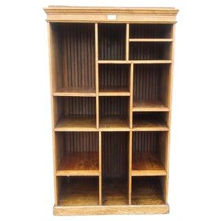MCM Rustic Wood Book Shelf Storage Unit