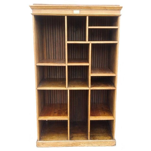 MCM Rustic Wood Book Shelf Storage Unit - Image 1 of 7