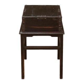 Antique Sarreid Ltd Primitive Hampton Box on Stand