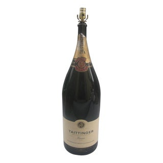 Extra Large Taittinger Champagne Bottle Lamp