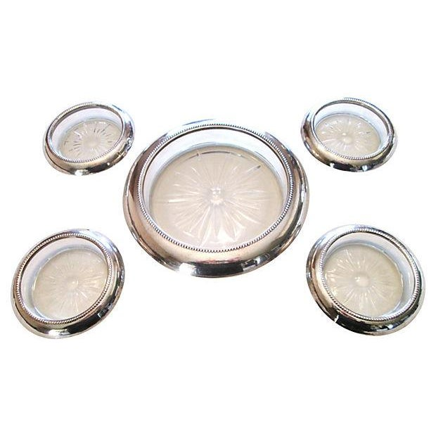 Image of Sterling Bottle & Glass Coasters - Set of 5