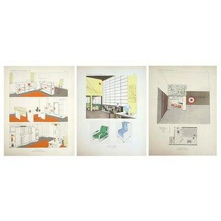 Vintage Paris Deco Design Sheets - Set of 3