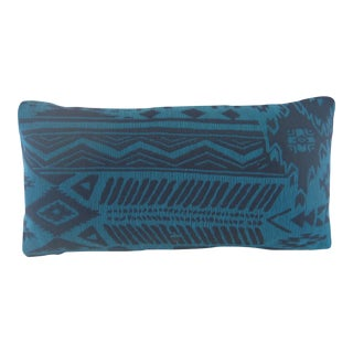 Blue Lumbar Turkish Kilim Pillow