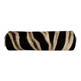 Zebra Hide Bolster Pillow