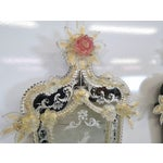 Image of Antique Venetian Glass Mirrored Sconces - A Pair