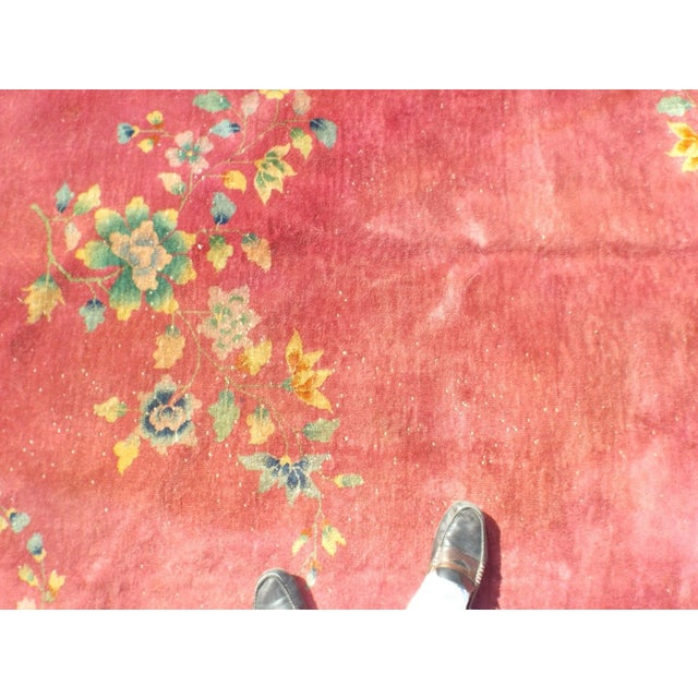 Authentic 1930s Art Deco Chinese Handmade Rug - Image 5 of 9
