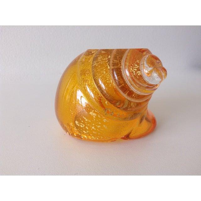Alfredo Barbini Italian Murano Cognac Shell - Image 11 of 11