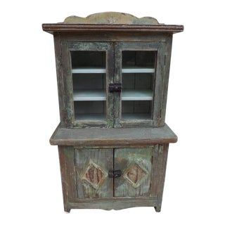Antique Child's Yellow Pine Cupboard