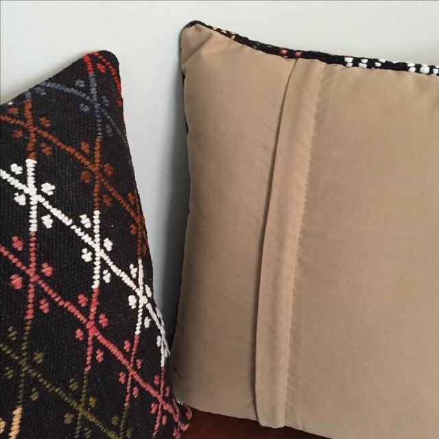 Vintage Kilim Throw Pillows - Pair - Image 6 of 6