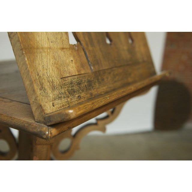 Monumental Italian Carved Oak Lectern Book Stand - Image 6 of 7
