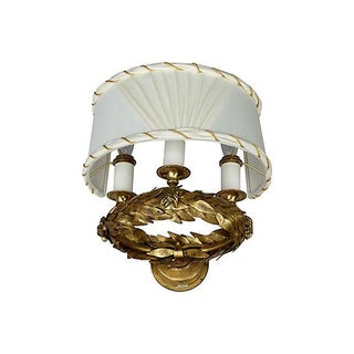 Neoclassical Style Gilt Laural Leaf Wreath Sconce